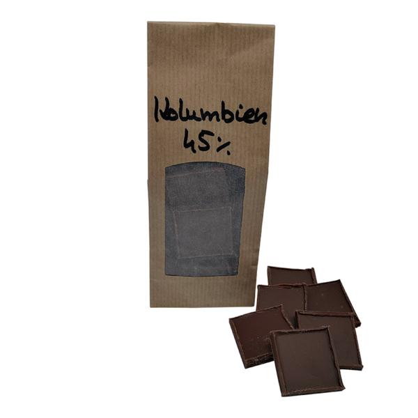 Vollmilchschokolade aus Kolumbien 45%